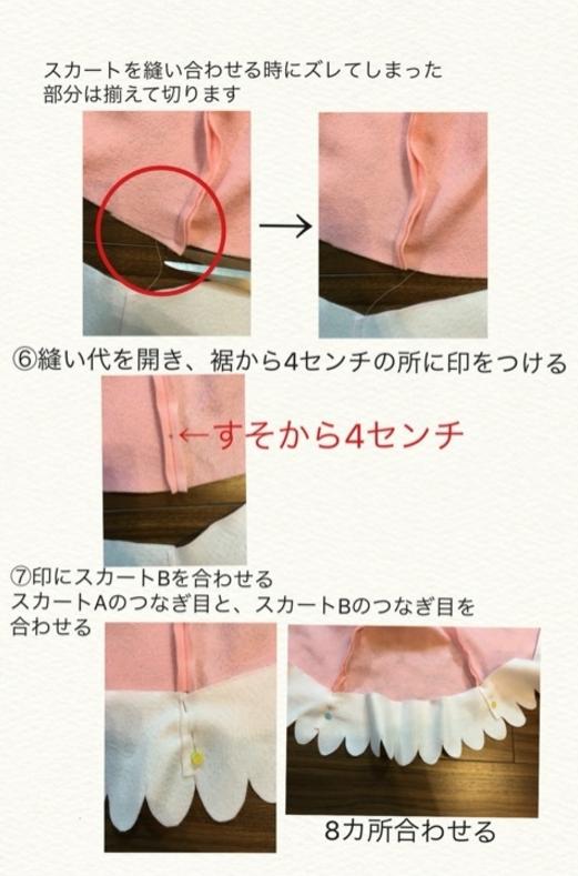 キュアミラクル衣装作り方2-3