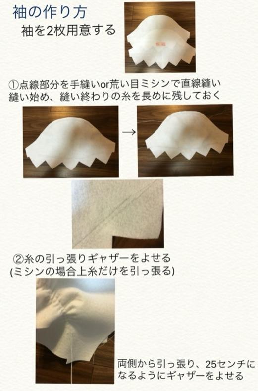 キュアミラクル衣装作り方2-5
